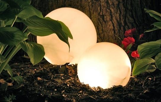 Шары светильники для сада своими руками