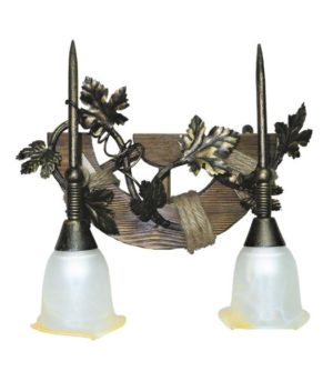 Деревянный настенный светильник Лоза-2П